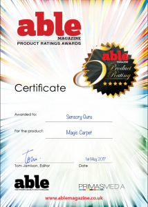 Able Magazine Award Certificate