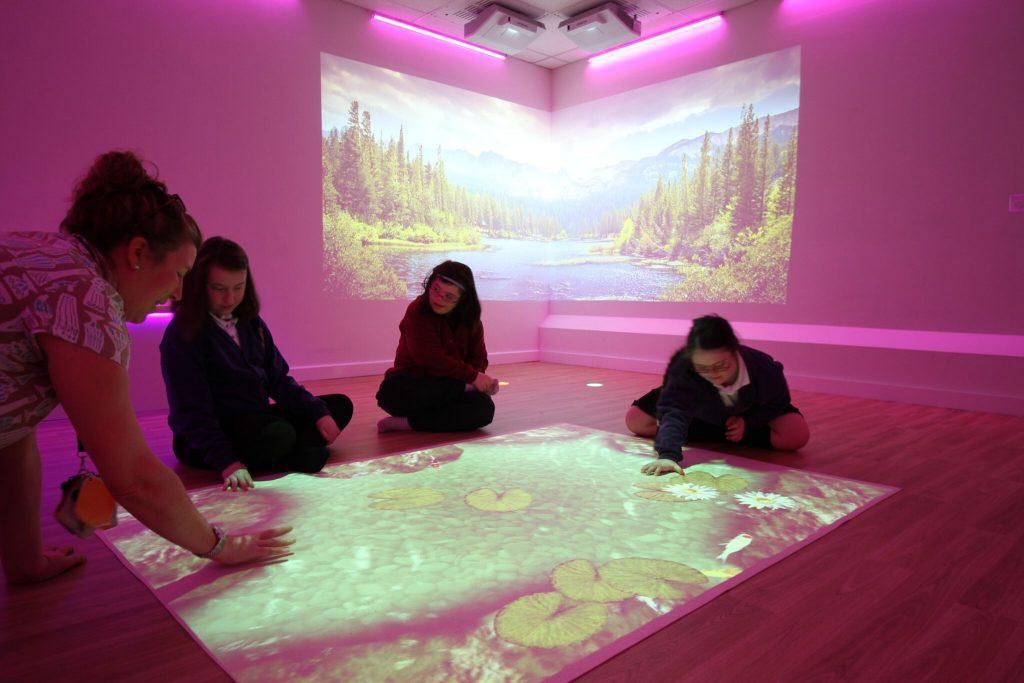 Pink Lighting Sensory Room